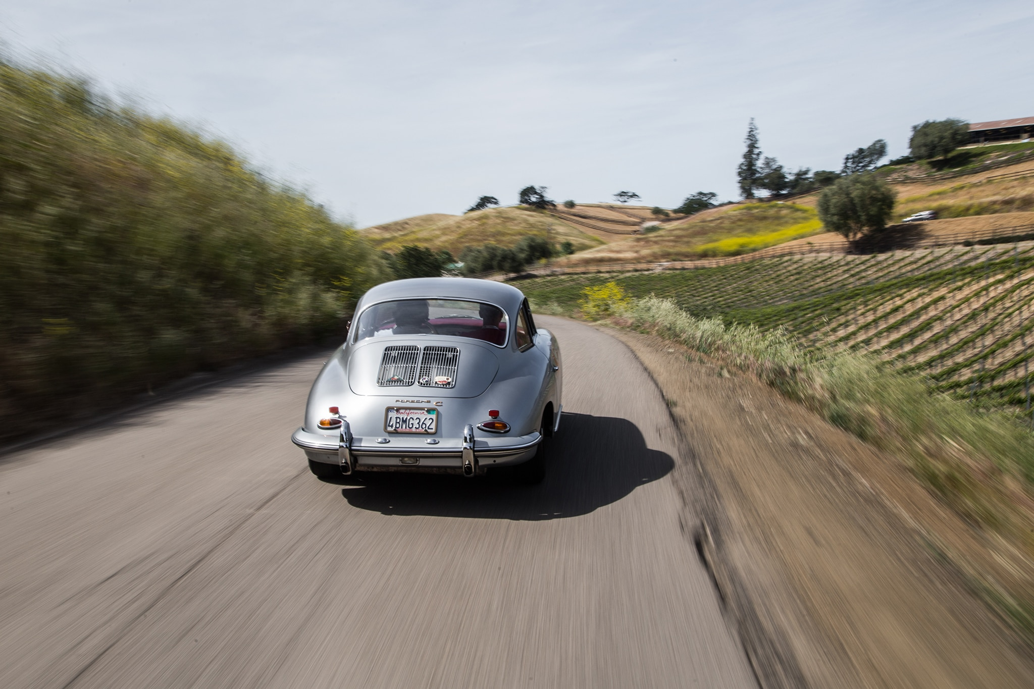 1964 Porsche 356 C Rear View In Motion 01